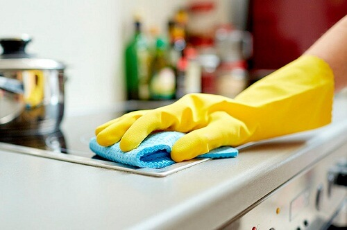 limpia la cocina